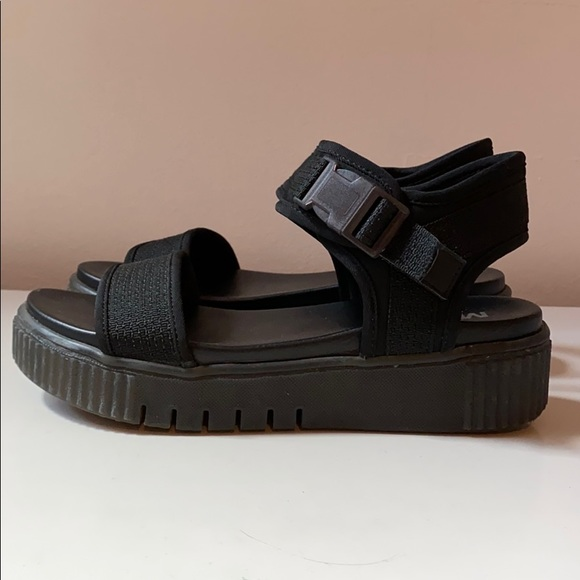 MIA Shoes | Black Platform Sandals